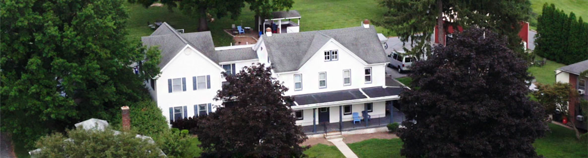 Aerial photo of accommodations